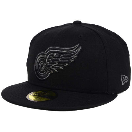 Detroit Red Wings New Era NHL Black Graph 59FIFTY Cap