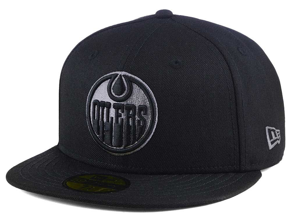 Edmonton Oilers New Era NHL Black Graph 59FIFTY Cap  39b8986d88d