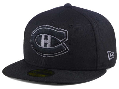Montreal Canadiens New Era NHL Black Graph 59FIFTY Cap