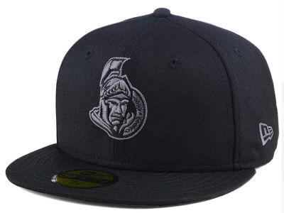 Ottawa Senators New Era NHL Black Graph 59FIFTY Cap