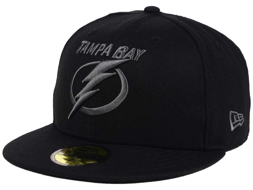 more photos e9275 6bde3 ... get tampa bay lightning new era nhl black graph 59fifty cap 79c5b 3d872