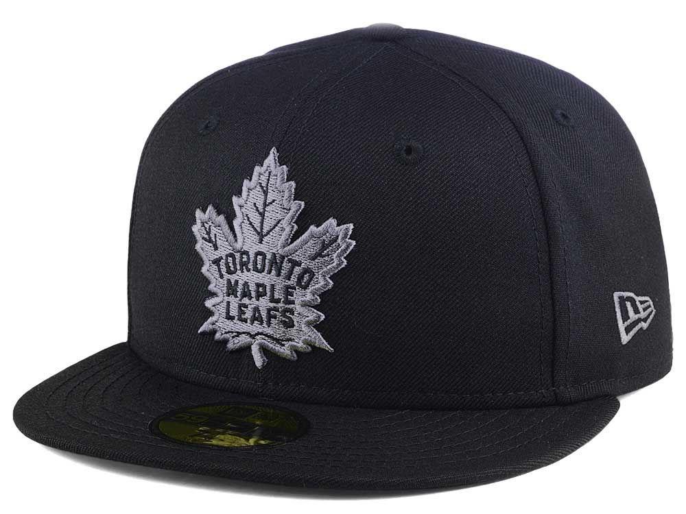 Toronto Maple Leafs New Era NHL Black Graph 59FIFTY Cap  7f9bfb91f28