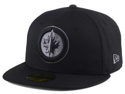 Winnipeg Jets New Era NHL Black Graph 59FIFTY Cap