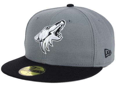 Arizona Coyotes New Era NHL Gray Black 59FIFTY Cap