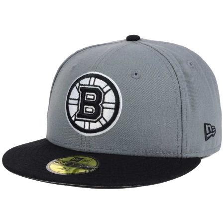 Boston Bruins New Era NHL Gray Black 59FIFTY Cap