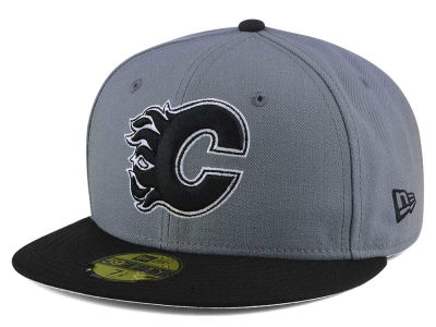 Calgary Flames New Era NHL Gray Black 59FIFTY Cap