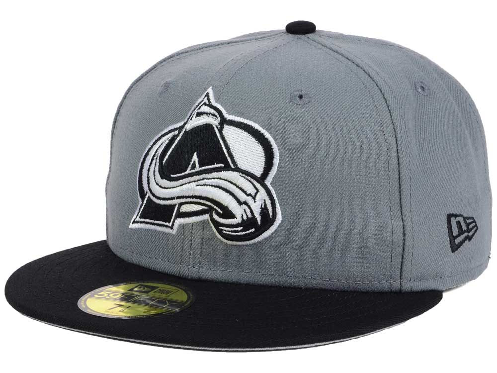 Colorado Avalanche New Era NHL Gray Black 59FIFTY Cap  fbede0471baf