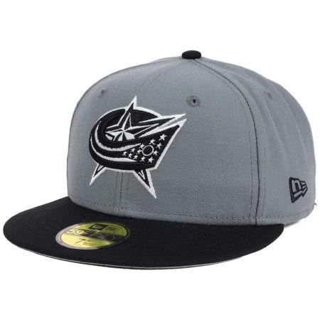 Columbus Blue Jackets New Era NHL Gray Black 59FIFTY Cap