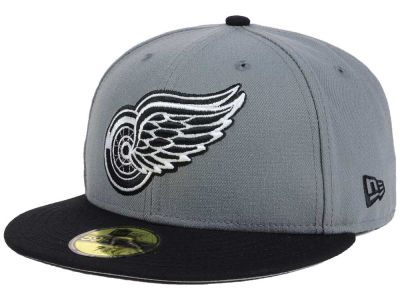 Detroit Red Wings New Era NHL Gray Black 59FIFTY Cap