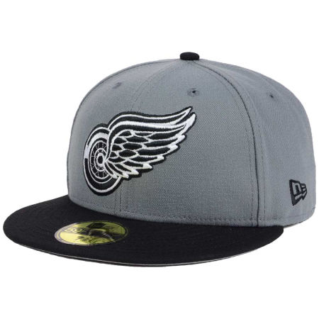 Detroit Red Wings New Era NHL Gray Black 59FIFTY Cap