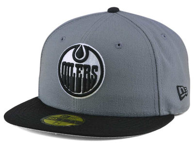 Edmonton Oilers New Era NHL Gray Black 59FIFTY Cap