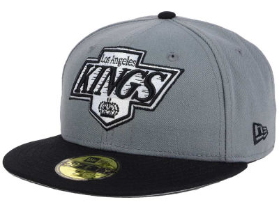 Los Angeles Kings New Era NHL Gray Black 59FIFTY Cap
