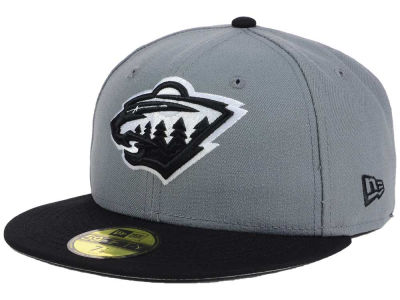 Minnesota Wild New Era NHL Gray Black 59FIFTY Cap