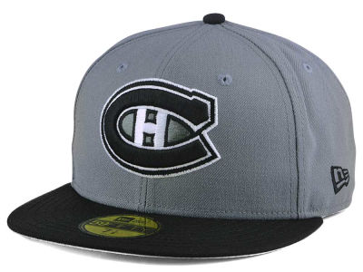 Montreal Canadiens New Era NHL Gray Black 59FIFTY Cap