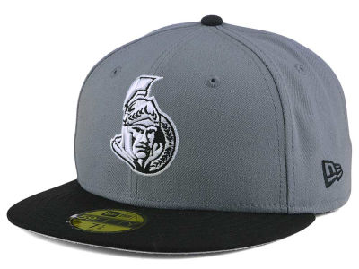 Ottawa Senators New Era NHL Gray Black 59FIFTY Cap
