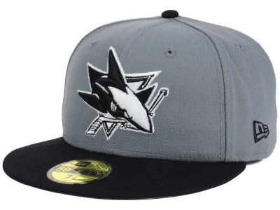 San Jose Sharks New Era NHL Gray Black 59FIFTY Cap