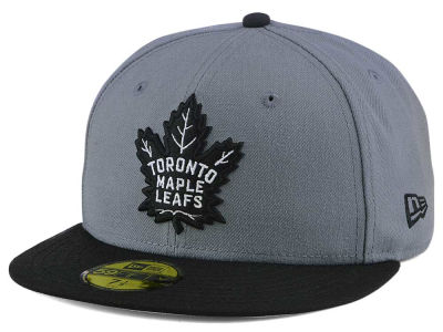 Toronto Maple Leafs New Era NHL Gray Black 59FIFTY Cap