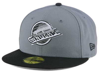 Vancouver Canucks New Era NHL Gray Black 59FIFTY Cap