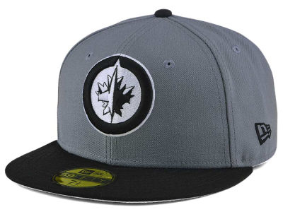 Winnipeg Jets New Era NHL Gray Black 59FIFTY Cap