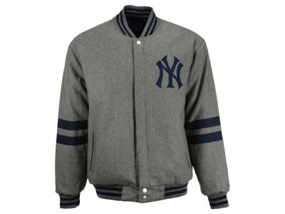 New York Yankees MLB Men's Wool Reversible Full Zip Jacket