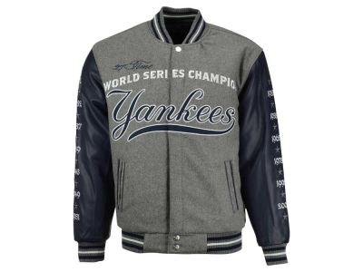 New York Yankees MLB Men's Reversible Commemorative Melton Jacket