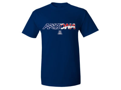 Arizona Wildcats NCAA Men's Logo Flag T-Shirt