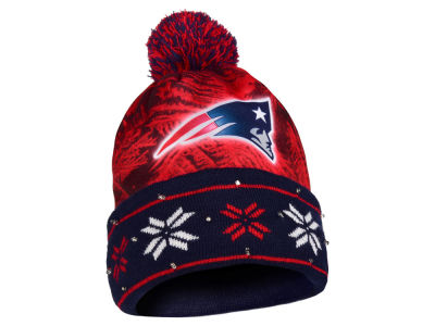 New England Patriots Light Up Ugly Sweater Knit