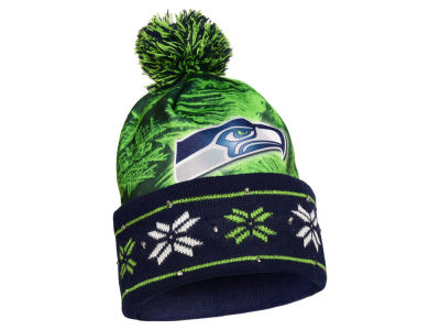 Seattle Seahawks Light Up Ugly Sweater Knit