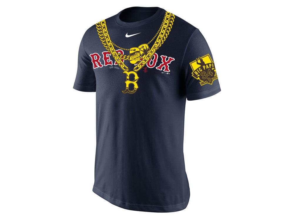 Boston Red Sox David Ortiz Nike MLB Men s Big Papi Chain Commemorative T- Shirt  851b7f837