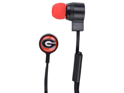 Georgia Bulldogs Mizco Big Logo Earbuds