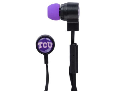 Texas Christian Horned Frogs Big Logo Earbuds