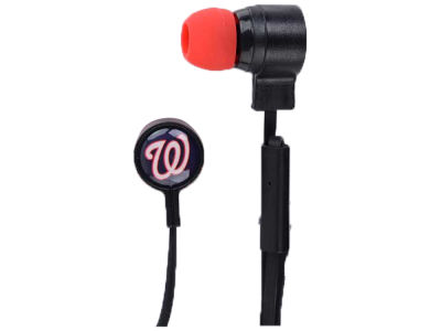 Washington Nationals Mizco Big Logo Earbuds