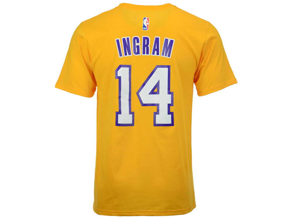 Los Angeles Lakers Brandon Ingram adidas NBA Men s Player T-Shirt ... c66ae4273b3a