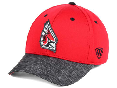 Ball State Cardinals Top of the World NCAA Fable Stretch Cap