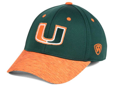 Miami Hurricanes Top of the World NCAA Fable Stretch Cap