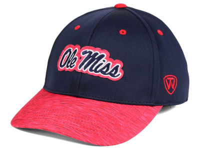 Ole Miss Rebels Top of the World NCAA Fable Stretch Cap