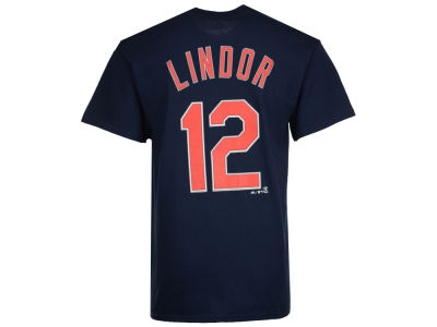 Cleveland Indians Francisco Lindor Majestic MLB Men's Official Player T-Shirt