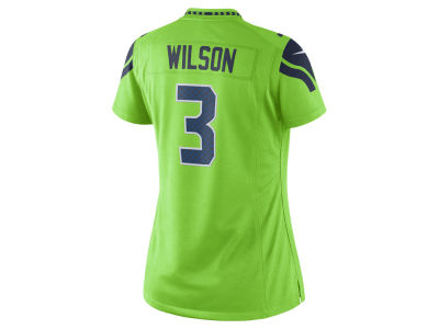 Seattle Seahawks Russel Wilson NFL Women's Color Rush Limited Jersey