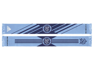 New York City FC adidas MLS Jacquard Slant Stripe Scarf