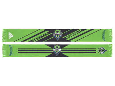 Seattle Sounders FC MLS Jacquard Slant Stripe Scarf