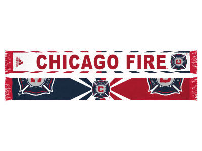 Chicago Fire adidas Jacquard Wordmark Scarf
