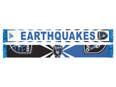 San Jose Earthquakes adidas Jacquard Wordmark Scarf