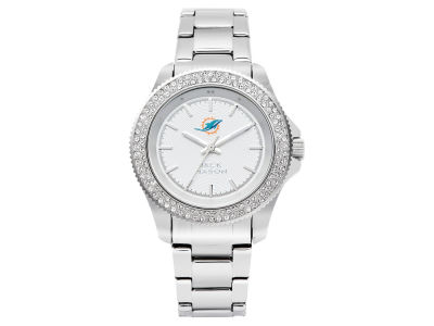 Miami Dolphins Jack Mason Ladies Glitz Sport Bracelet Watch
