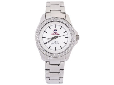 Connecticut Huskies Jack Mason Ladies Glitz Sport Bracelet Watch