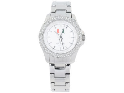 Miami Hurricanes Jack Mason Ladies Glitz Sport Bracelet Watch