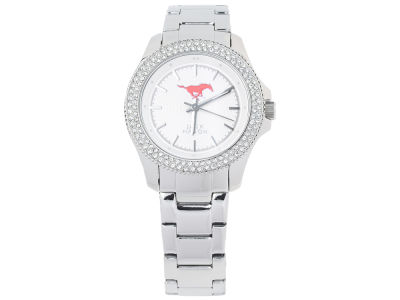 Southern Methodist Mustangs Jack Mason Ladies Glitz Sport Bracelet Watch