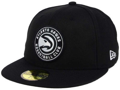 Atlanta Hawks New Era NBA Black White 59FIFTY Cap