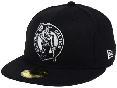 Boston Celtics New Era NBA Black White 59FIFTY Cap