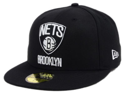 Brooklyn Nets New Era NBA Black White 59FIFTY Cap