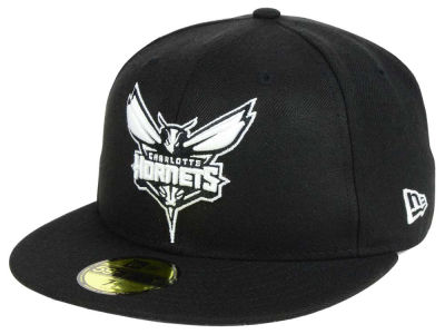 Charlotte Hornets New Era NBA Black White 59FIFTY Cap